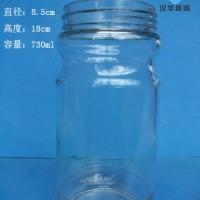厂家直销700ml玻璃罐头瓶,麻辣酱玻璃瓶批发
