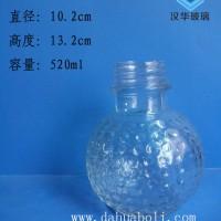 热销500ml工艺玻璃酒瓶一斤装白酒玻璃瓶批发