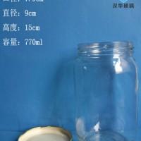 厂家直销770ml罐头玻璃瓶,大口玻璃麻辣酱瓶批发
