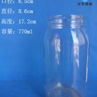 徐州生产770ml玻璃罐头瓶厂家直销果酱玻璃瓶价格