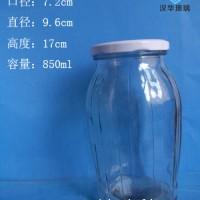 徐州生产850ml罐头玻璃瓶,麻辣酱玻璃瓶批发