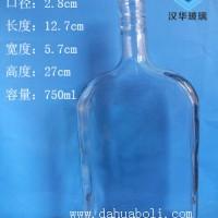热销950ml长方形玻璃保健酒瓶,工艺玻璃酒瓶批发