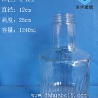 徐州生产1200ml玻璃酒瓶大容量酒瓶生产厂家