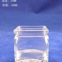 徐州生产100ml方形出口玻璃蜡烛杯,厂家直销玻璃烛台