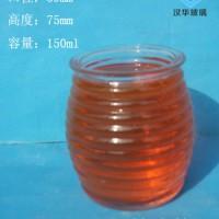 徐州生产150ml螺纹玻璃烛台批发,厂家直销玻璃蜡烛杯价格