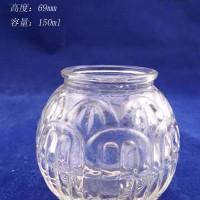 徐州生产150ml工艺玻璃烛台,蜡烛玻璃杯生产厂家