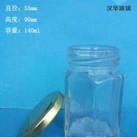 徐州生产140ml六棱蜂蜜玻璃瓶,果酱玻璃瓶生产商