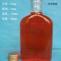 徐州生产200ml扁玻璃保健酒瓶