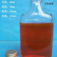 徐州生产200ml扁形玻璃保健酒瓶工艺酒瓶批发