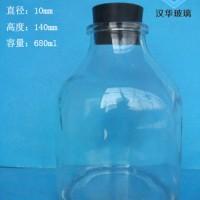 徐州生产680ml橡胶塞盖玻璃组培瓶批发价格