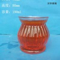 厂家直销190ml蜡烛玻璃杯,订制各种玻璃烛台
