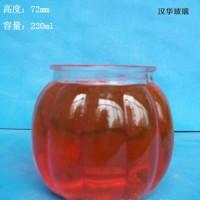 220ml南瓜玻璃烛台生产厂家,订制各种蜡烛玻璃杯
