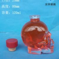 厂家直销120ml骷髅头工艺玻璃瓶