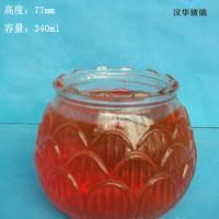 徐州生产340ml莲花玻璃烛台,工艺蜡烛玻璃杯生产厂家